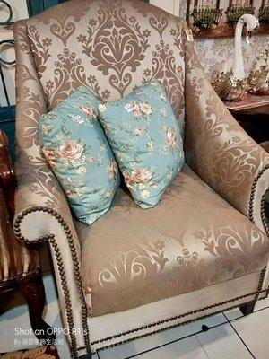 屏東易匠典雅單人沙發椅,自用,民宿.餐廳