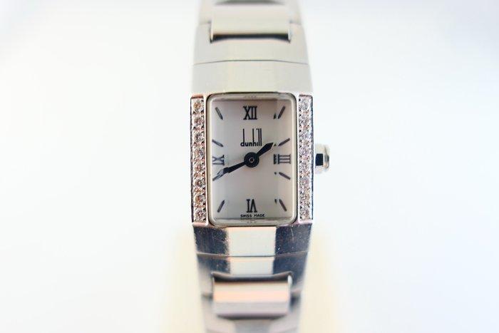 [吉宏精品交流中心]DUNHILL 登喜路 不鏽鋼 原鑲鑽圈 石英 女錶