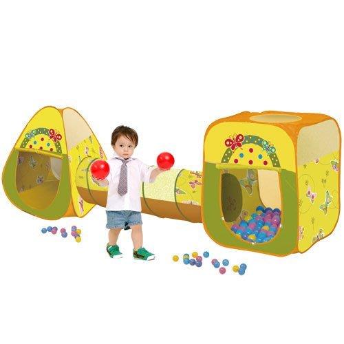 蝴蝶球屋~三角+方形帳篷+隧道大球屋~不含球賣場~◎童心玩具1館◎