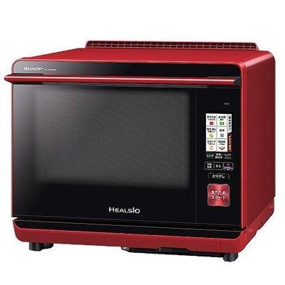 附中文說明書**夏普SHARP AX-XW300 智慧型聲控水波爐(紅色款) 蒸氣烤箱 30L 2段調理  wi-fi