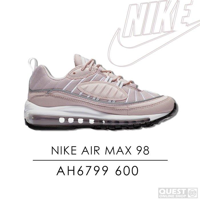 【QUEST】 NIKE AIR MAX 98 粉色 粉紅 氣墊 女鞋 休閒 運動鞋 慢跑鞋 反光 AH6799 600