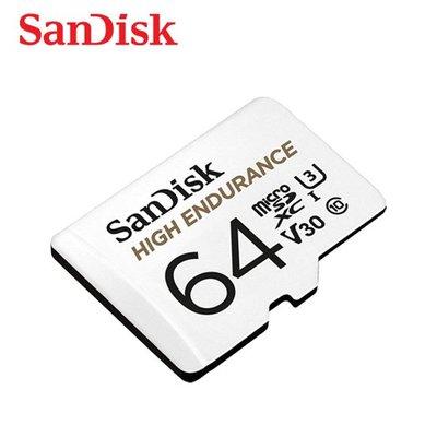 SanDisk HIGH ENDURANCE MicroSD V30 U3 64GB記憶卡 (SD-SQQNR-64G)