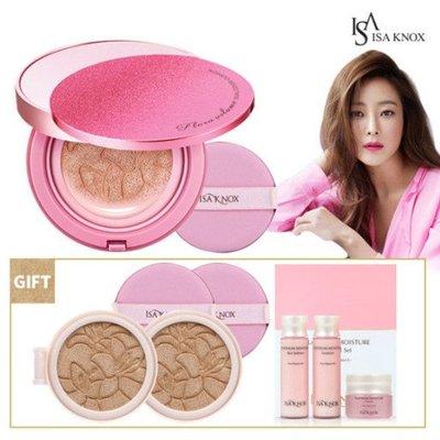 2018 (ISA KNOX) Flora Volume Dual Cover Cushion 精華粉色光彩氣墊粉餅
