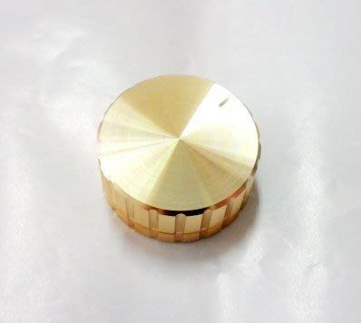 『正典UCHI電子』鋁殼 金色旋鈕 (直徑40mm 高17mm ) (16mm 電位器用) 單顆販售