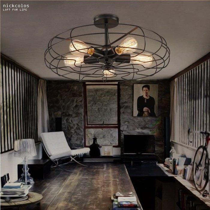 尼克卡樂斯~工業風電扇造型吊燈  loft  設計款吊燈 餐廳燈 客廳主燈 服飾店 咖啡廳 造型燈飾