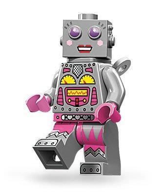 絕版品【LEGO 樂高】玩具 積木/ Minifigures人偶包系列: 11代 71002 單一人偶: 女機器人