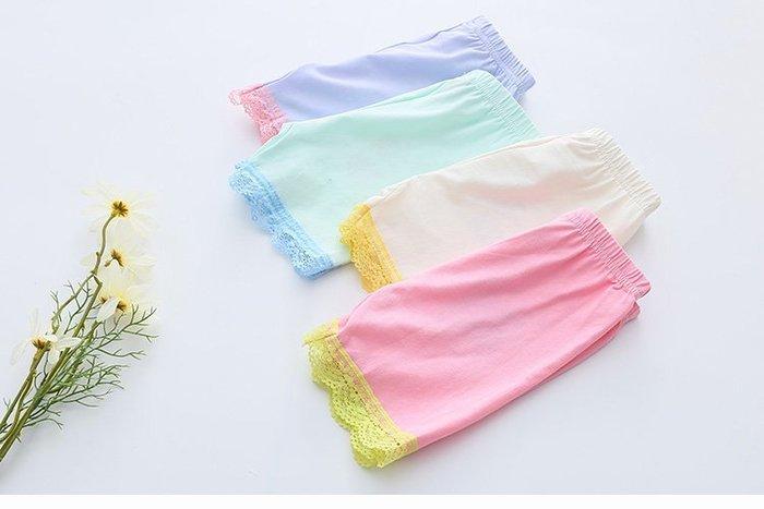現貨+預購 夏装韓版新款純色蕾絲女童童装 兒童短褲安全褲
