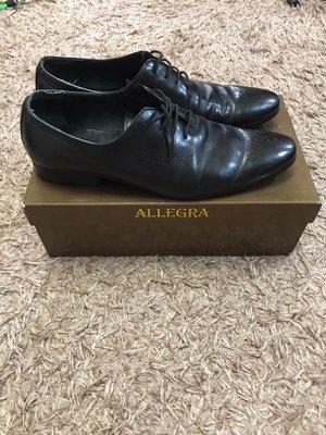 二手 ALLEGRA 皮鞋 真皮 手染 牛津皮鞋 婚鞋 休閒皮鞋 us10號  誠品專櫃購入