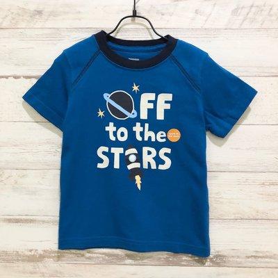 Maple麋鹿小舖 美國購買童裝品牌 GYMBOREE 男童藍色圖案短T * ( 現貨2T )