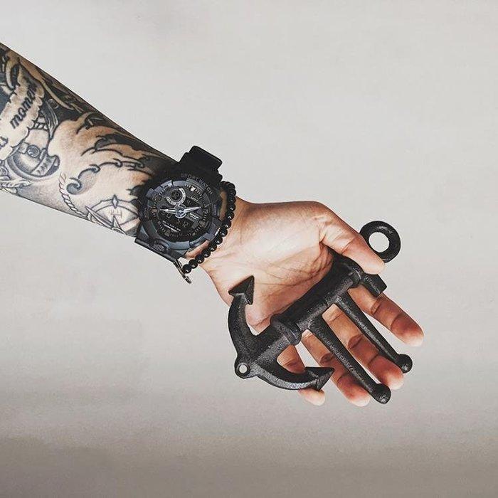 半島鐵盒 時尚潮男電子錶男多功能夜光防水雙顯跑步計時運動手錶女韓版學生