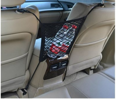 T1007 ✨多 汽車置物網袋✨ 全彈力 型 兒童安全 收納置物 座椅間置物網
