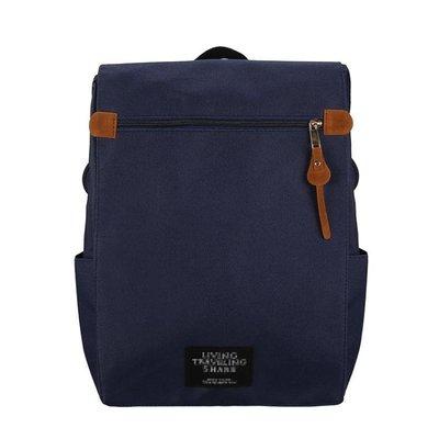 雙肩包女包包韓版潮純色高中學生學院風書包女旅行大容量電腦背包