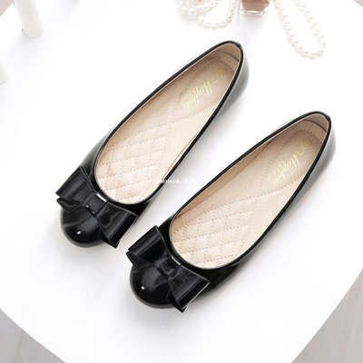 litterluck-韓國專櫃工作鞋瓢鞋女夏大碼女鞋春季40 41-43黑色平底溫柔鞋百搭仙女單鞋