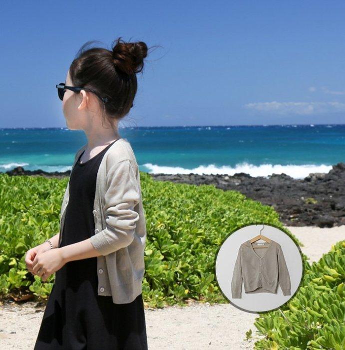 蜜寶貝*【現貨-快速出貨】中大女童-親子裝-薄款針織開衫外套防曬防蚊A088-尺寸100-170 0014