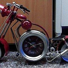 複古大型哈雷摩托車模型金屬座鐘鐵藝車模家居創意餐廳酒吧裝飾品*Vesta 維斯塔*