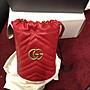 『Jewel Apparel』GUCCI 19FW GG Marmont 波浪紋 迷你 紅色 單肩包 水桶包