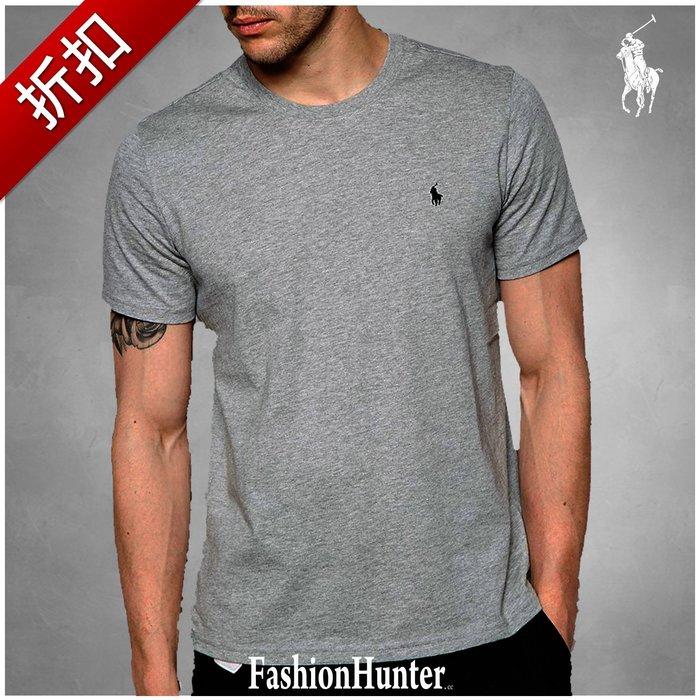 折扣【FH.cc】Polo Ralph Lauren 素t 圓領素面 短袖T恤 灰 刺繡小馬 男童款 Tommy A&F