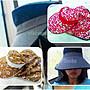 [現貨]出清回饋_㊣台灣製_防曬護頸披肩工作帽.遮陽帽.透氣網帽_紅小花