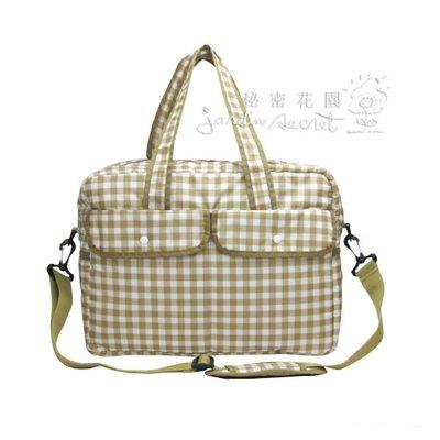 超輕款格紋媽媽包--秘密花園--日本GLADEE超輕款格紋媽媽包/大包/旅行包