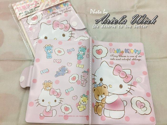 Ariel's Wish-日本SANRIO三麗鷗限定Hello kitty凱蒂貓媽媽手冊健保卡存簿套存摺套提款卡套護照套