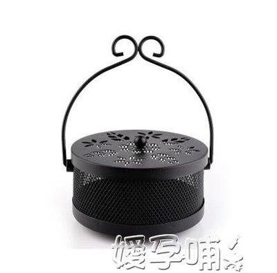 蚊香架創意復古蚊香盒爐架盤托戶外便攜防火帶蓋家用鏤空蚊香盤可掛