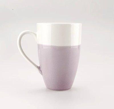 BLH 小清新陶瓷馬克杯 陶瓷水杯茶杯牛奶杯 咖啡杯 紫色 現貨