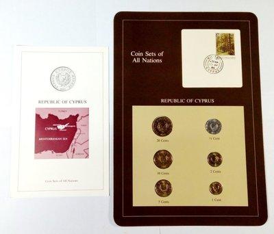 HA163 富蘭克林1980年代 ( 賽普勒斯島國 ) 裝幀套幣 附證 UNC