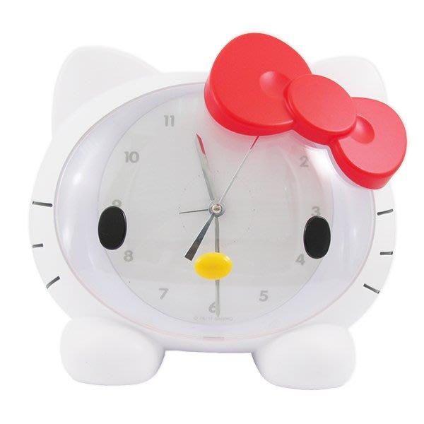 41+ 現貨不必等 正版授權  Hello Kitty頭型小夜燈造型音樂鬧鐘-白 粉   my4165