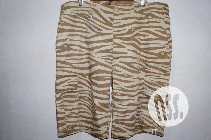 特價「NSS』A BATHING APE BAPE ZEBRA 6 POCKET SHORTS 斑馬 六口袋 短褲 XL
