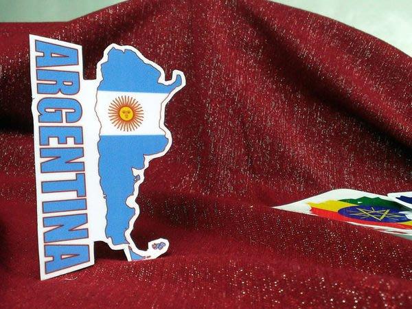 【國旗貼紙專賣店】阿根廷國旗地圖抗UV、防水旅行箱貼紙/多國款可收集和訂製