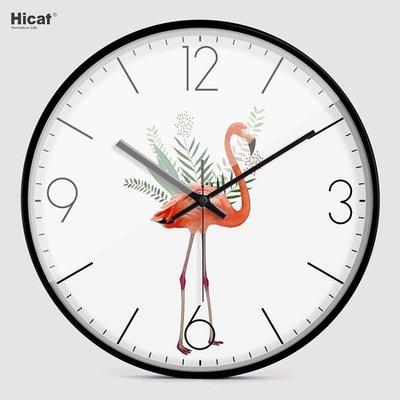 北歐風掛鐘 HICAT石英鐘客廳臥室鐘...
