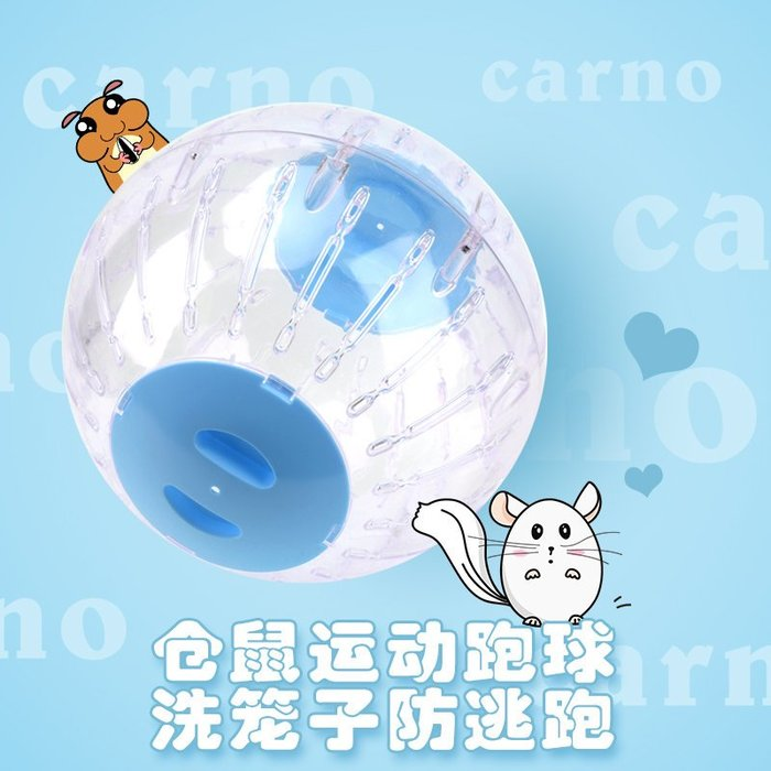 倉鼠球龍貓滾球金絲熊跑球超大透明水晶運動球寵物用品