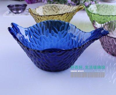 廚房用品 餐具 餐盤 碗 KTV小吃碟 手工彩色玻璃盤子 水果盤零食盤 玻璃碟干果盤零食碟
