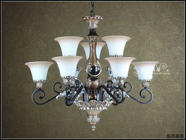 凱西美屋 黑爵士天使羽毛吊燈6+3 客廳雙層吊燈 9燈 別墅吊燈