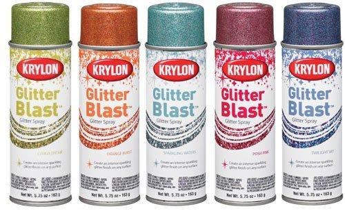 ||金色現貨|| KRYLON 水性金蔥噴漆 可噴保麗龍不腐蝕 14色 DIY 快速創造閃耀感 油老爺快速出貨