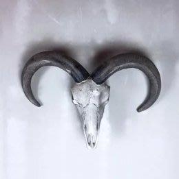【曙muse】北歐時尚骷髏綿羊頭壁掛 (限量1個)