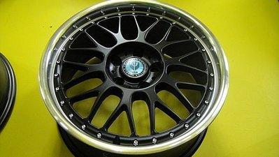 17 5H108 7J平光黑車邊鋁圈+215/45/17 FD2全新輪胎 FOCUS.MATROSTAR.MONDEO等適用