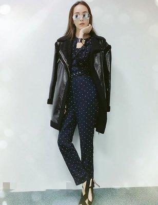 [我是寶琪] 侯佩岑二手商品 MICHAEL KORS 黑色皮革外套