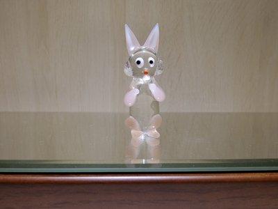 【藝晶香琉璃藝術工坊】可愛小擺飾兔兔、手工琉璃、藝術品