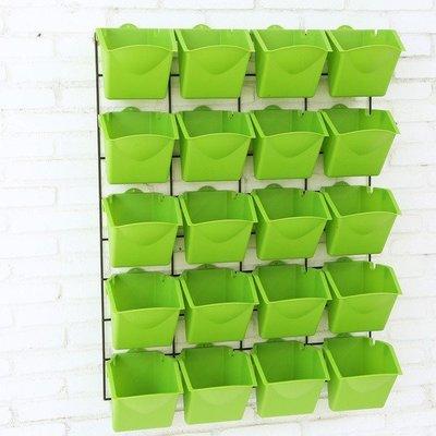 PP塑料垂直綠化壁掛陽台菜園種植盆加厚可疊加立體植物牆組合花盆