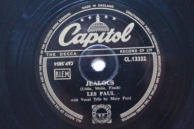 《Jealous》Les Paul 78轉 蟲膠唱片 電木唱片