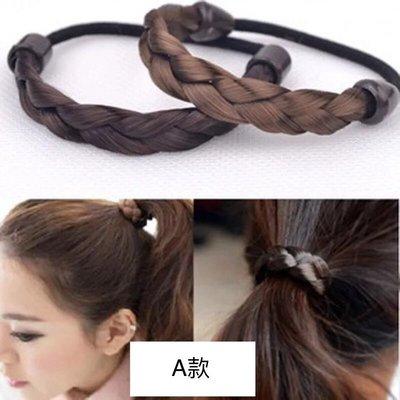 kitty house(683) 女 韓版 假辮子 假髮 髮圈 髮繩 復古髮飾 $6/一條