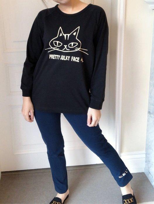 日本卡拉貓~卡拉貓家族純棉彈性內搭褲M~XXL