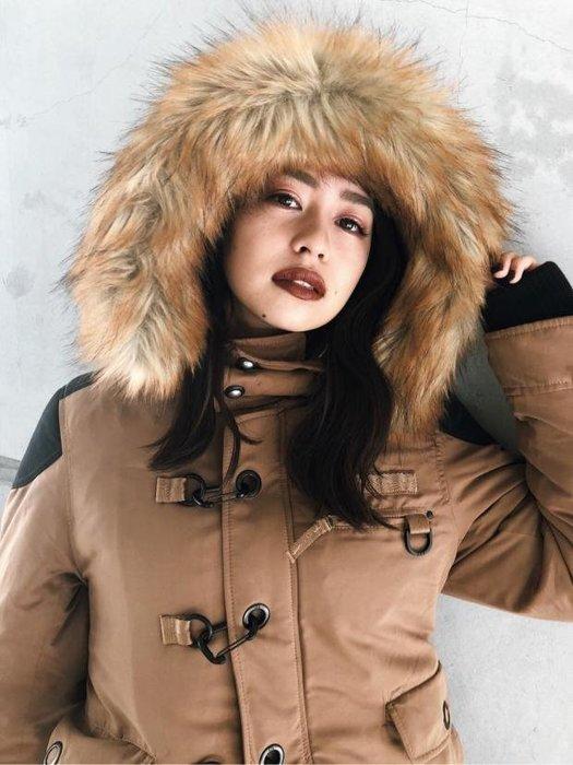 2018最新款SLY N3B貉子毛保暖軍裝外套 長版 短版 現貨 超殺低價免運Sugar Korea100%