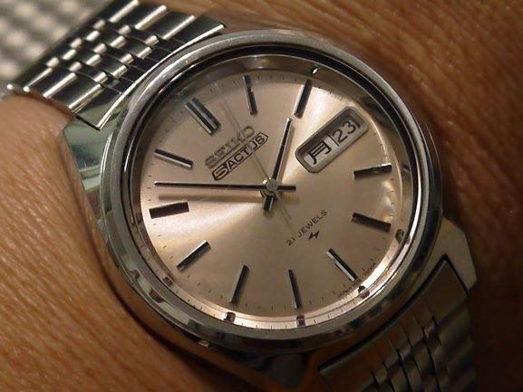 精工5ACTUS機械腕錶