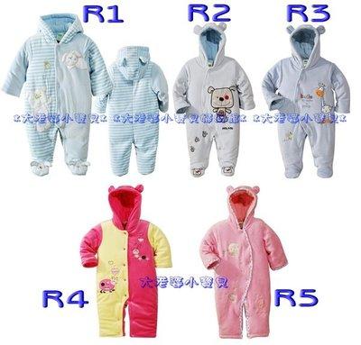 ❤ 大老婆小寶貝❤ 新生兒可穿 美單C牌男女童長袖加棉包腳/連身衣/兔裝(6-24M)