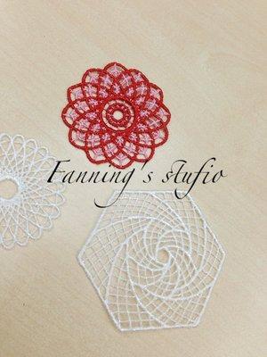 【芬妮卡Fanning服飾材料工坊】限量款 萬花筒蕾絲花片 三款 1組2片入