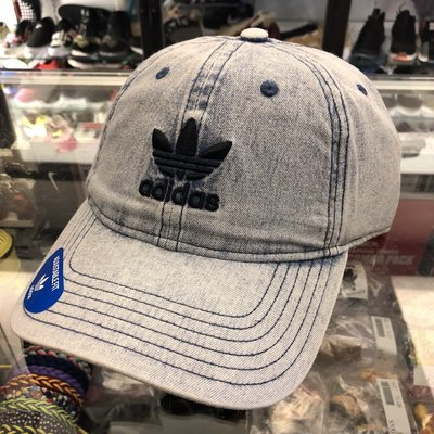 BEETLE ADIDAS 愛迪達 牛仔布 水洗 三葉草 立體 經典LOGO 老帽 棒球帽 可調式 男女款