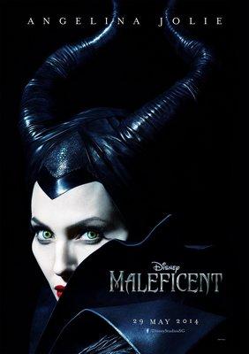 黑魔女:沉睡魔咒 (Maleficent) - 安潔莉娜裘莉 - 美國原版雙面電影海報 (2014年預告版)
