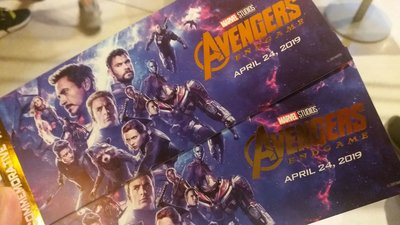 Avengers End Game 復仇者聯盟4 終局之戰 IMAX 3D 電影 首場 紀念票 曼威 Marvel Cinematic Universe MCU